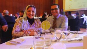 Eman & Diaa attending QGBC award ceremony